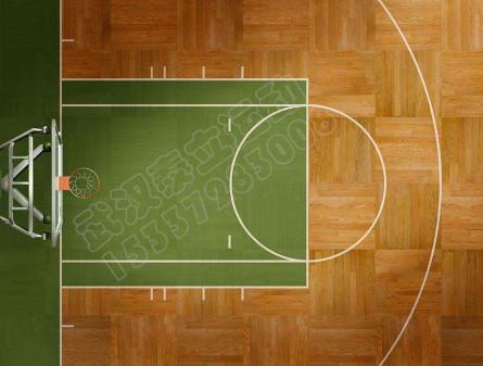 室内篮球馆木地板地胶