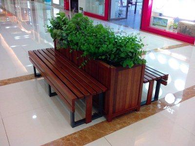 防腐木花架桌椅