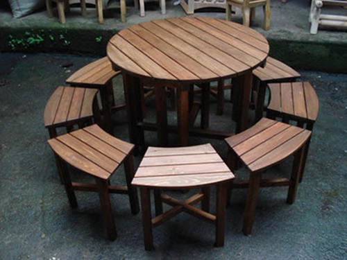 湖北防腐木座椅定做
