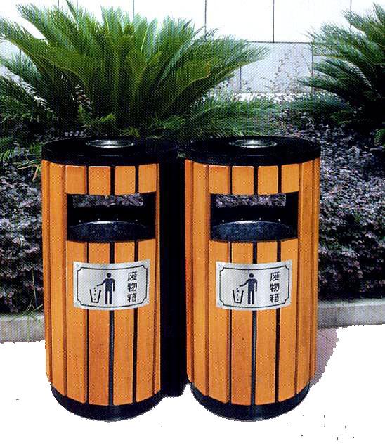 信阳防腐木垃圾桶