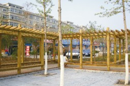 武汉葡萄架防腐木