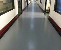 办公走廊水性聚安脂地坪