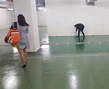 地下车库 水性聚安脂地坪工程