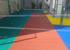 塑胶地坪施工方案|七彩虹|塑胶地坪价格