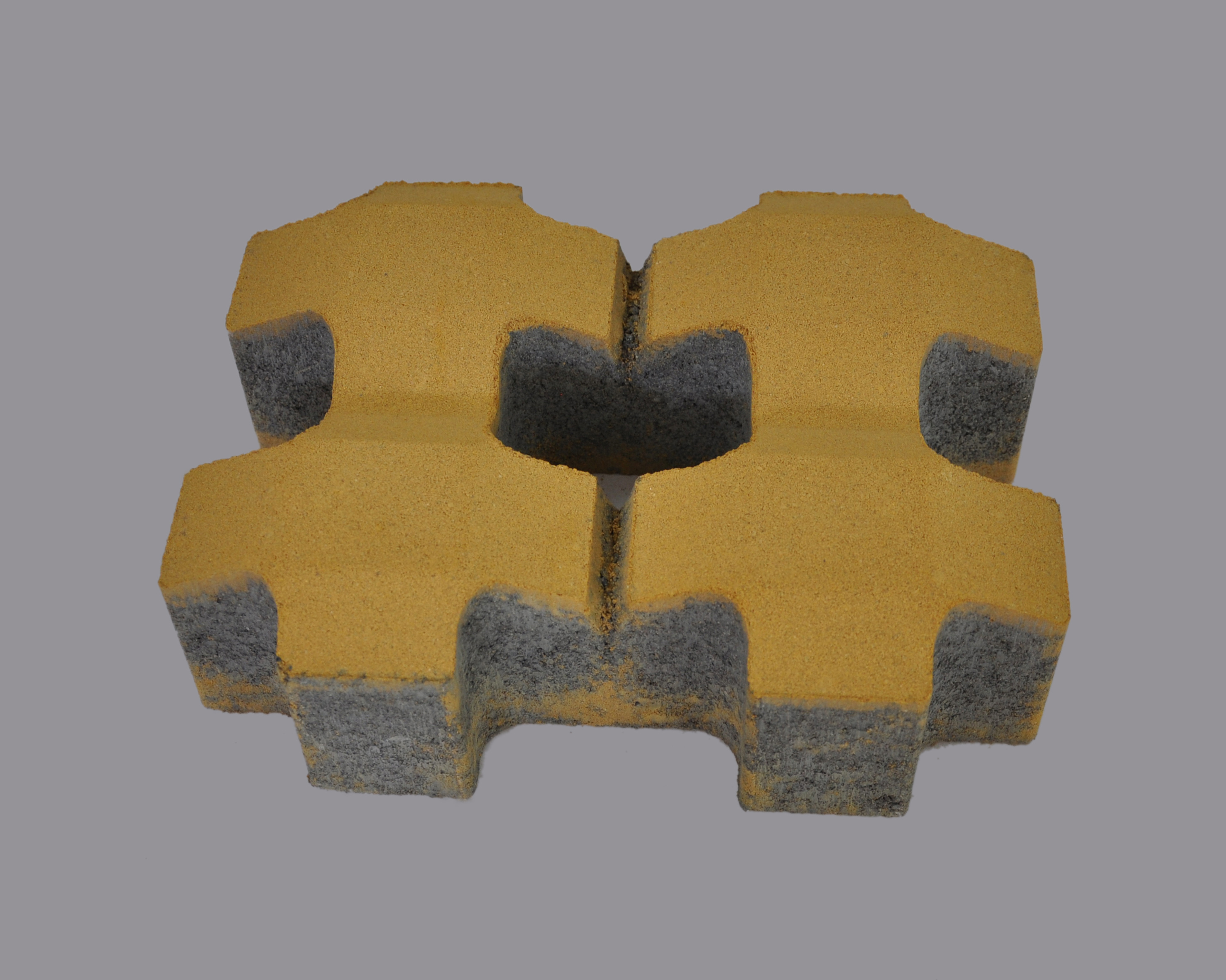 黄色植草砖