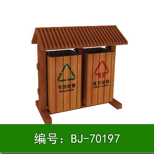 定做实木垃圾桶