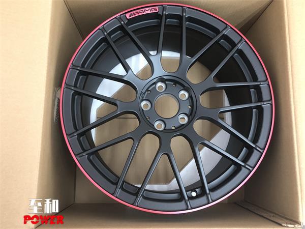 奔驰E300改19寸AMG锻造轮毂