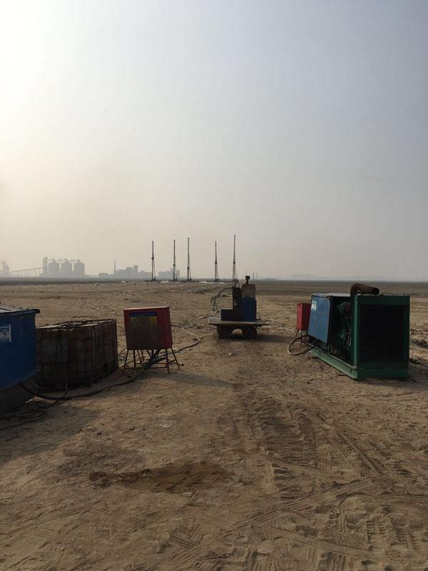 陆地排水板施工