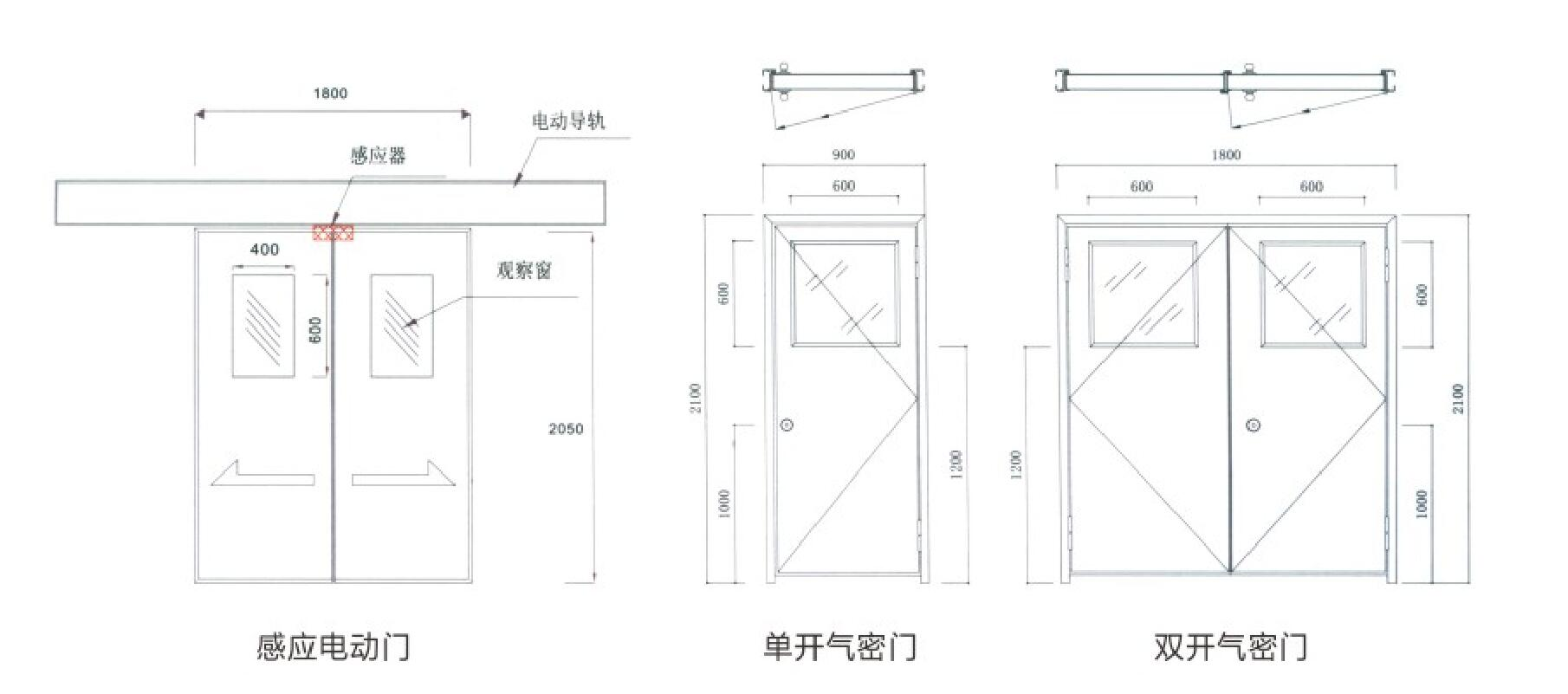 贵州铝合金净化门