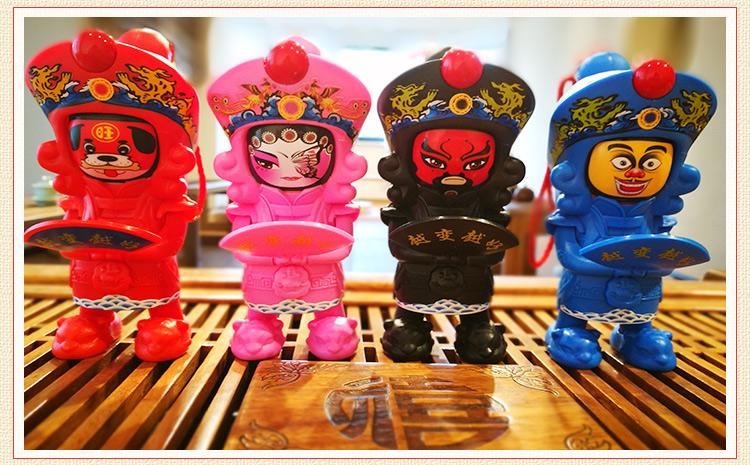 芙蓉门专利新产品捏脚变六张脸谱玩偶成都旅游纪念品