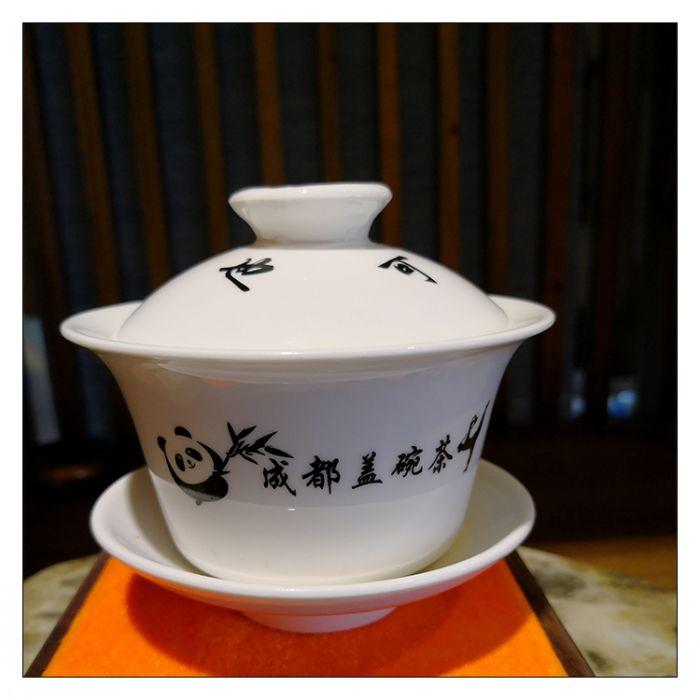 """芙蓉门成都茶文化衍生品""""成都盖碗茶""""陶瓷盖碗"""