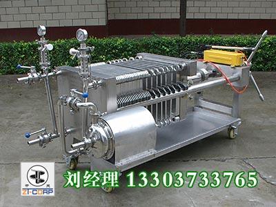 400型手动液压压紧板框式纸板精滤机