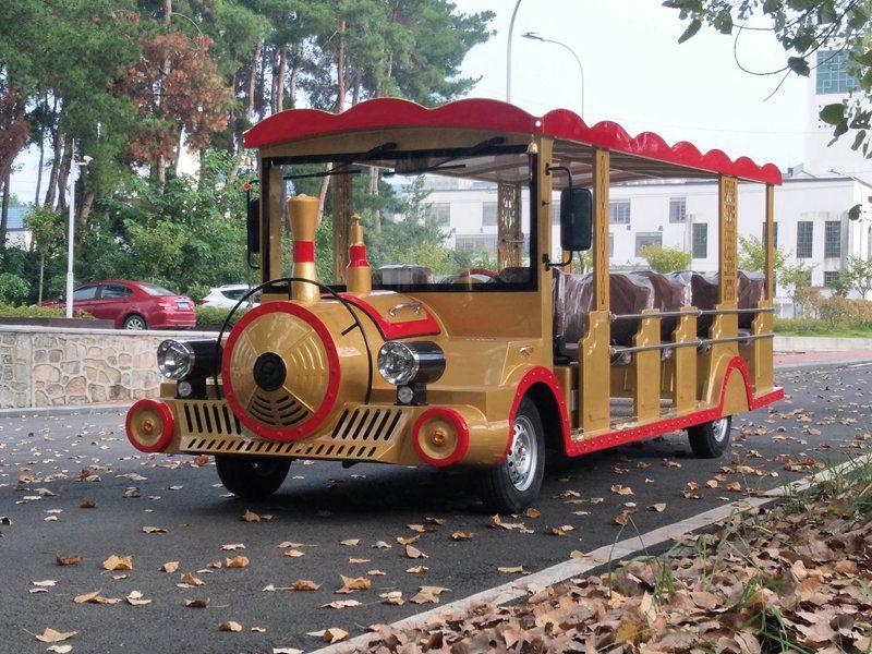忠辉火车头款11座燃油观光车