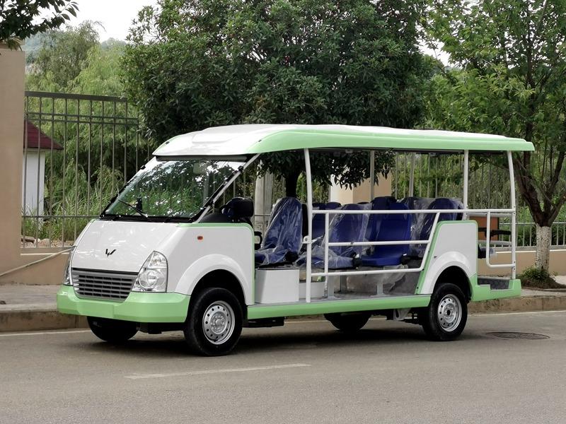 五菱威威14座燃油观光车