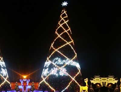 超大型圣诞树