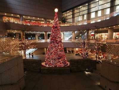 室内大型圣诞树