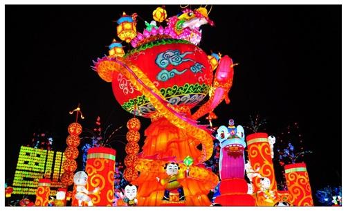 自贡灯会图片