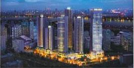 财信渝中城夜景