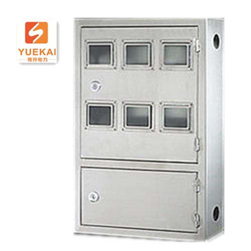 不锈钢单相双开门电表箱