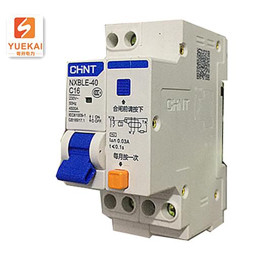 正泰漏电保护器NXBLE-40 C16 1P