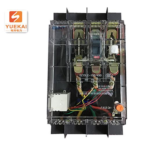 正泰透明剩余电流动作断路器  DZ15LE-100 4901T/100A/75mA