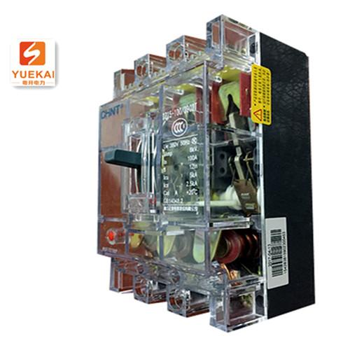 正泰 透明塑壳断路器 DZ15-100/3902T/100A 侧面