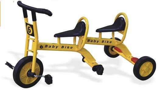 儿童双人脚踏车