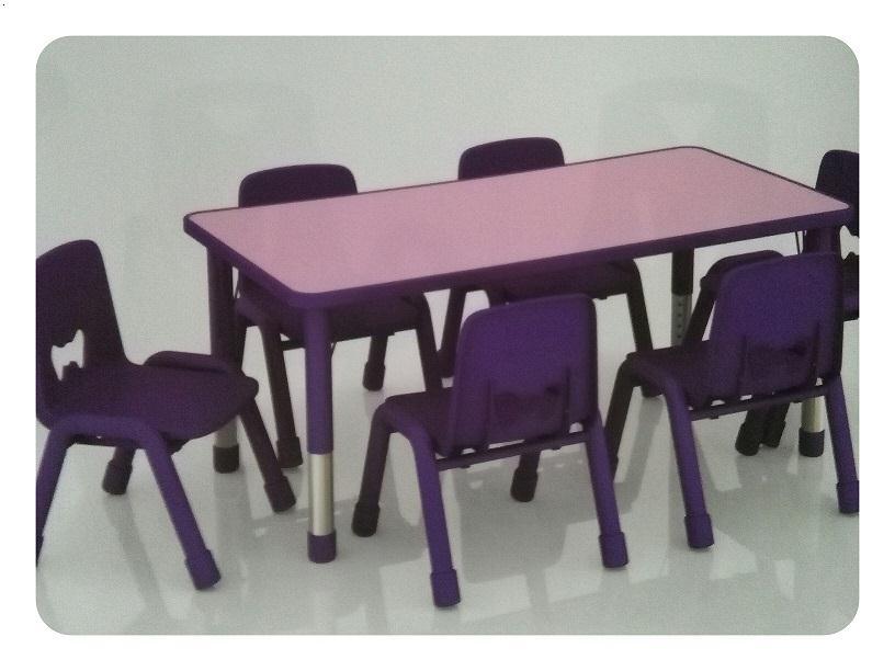 鄂州幼儿园桌椅六人桌