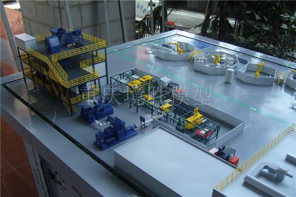 远大催化剂生产线模型