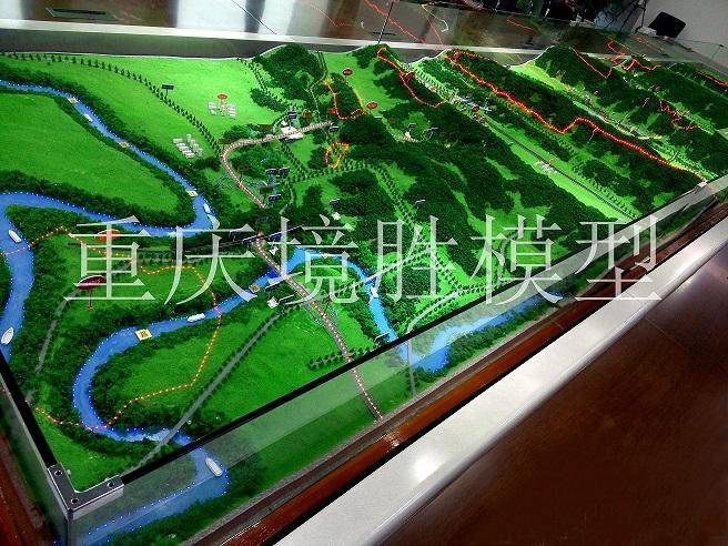 沙盘模型图-长合高速公路(侧)