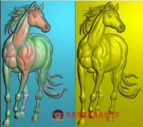 浮雕作品 学员练习马