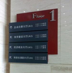 办公楼导视牌制作