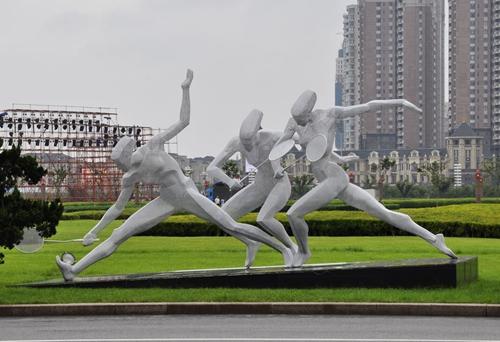 澳门皇冠官网新地址景观不锈钢雕塑