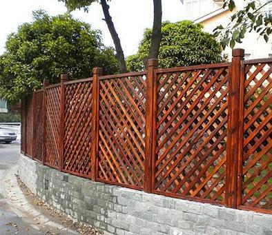 防腐木栏杆