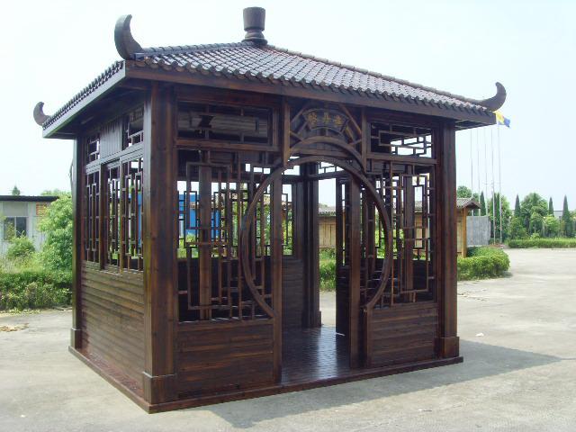 武汉防腐木碳化凉亭