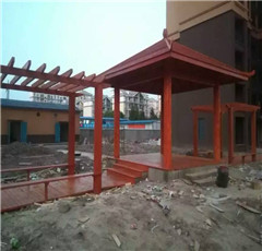 武汉防腐木花架