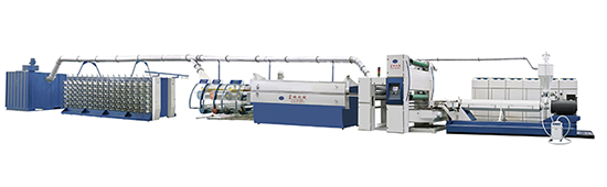 Flat wire drawing machine