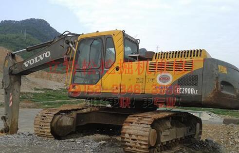 沃尔沃EC290BLC挖掘机动臂速度缓慢,无力