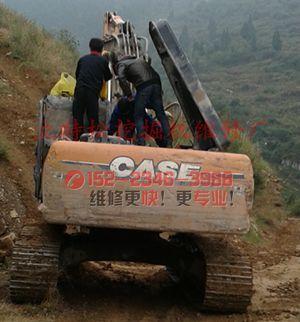 凯斯240挖掘机大臂速度慢故障检查方法