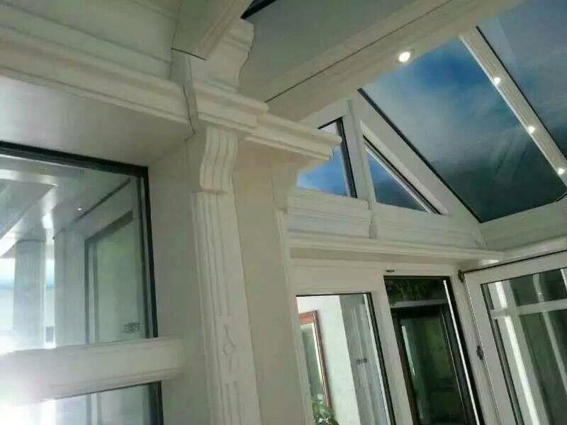 铝包木阳光房的链接部分展示