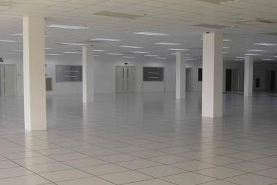 静电网络地板安装