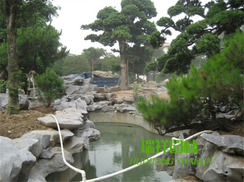 成都太湖石假山施工