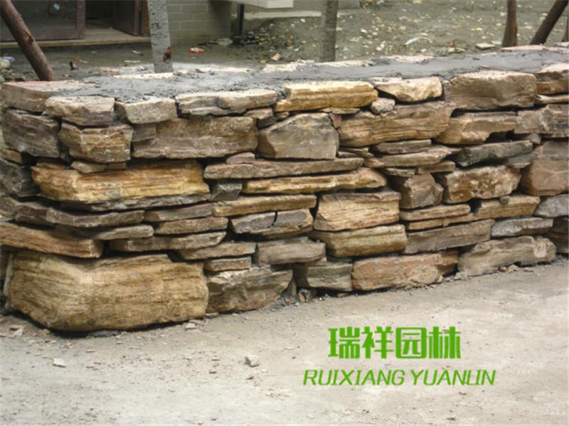 成都公园景墙石