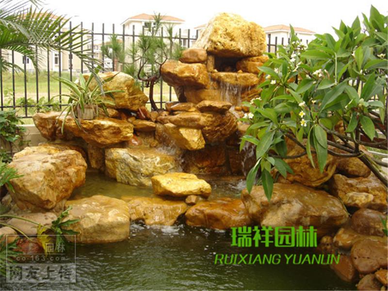 黄蜡石小型假山