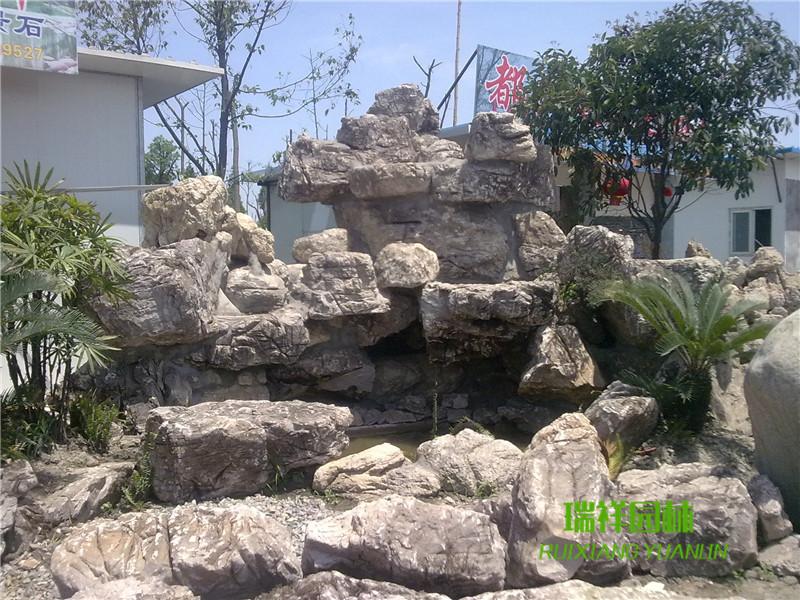 成都凤尾石假山喷泉