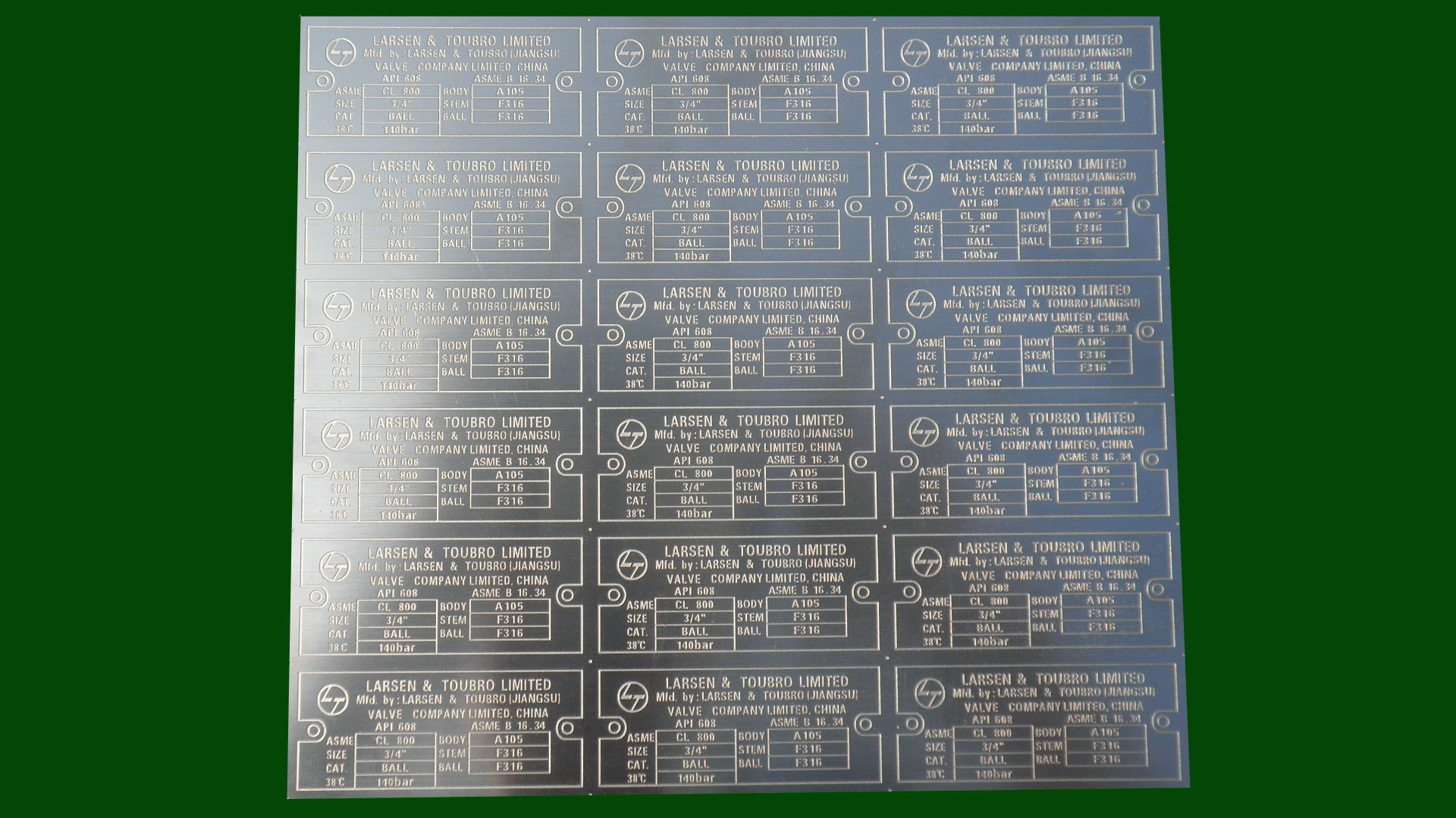电气设备标牌