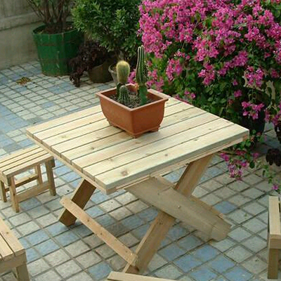 石家庄防腐木桌椅