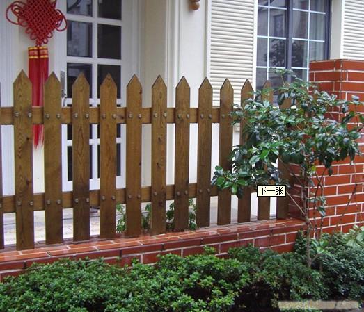 防腐木栏杆安装