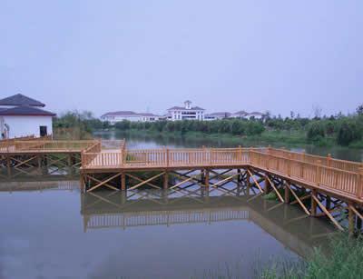 防腐木桥安装