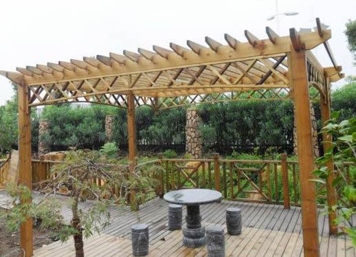防腐木葡萄架制作